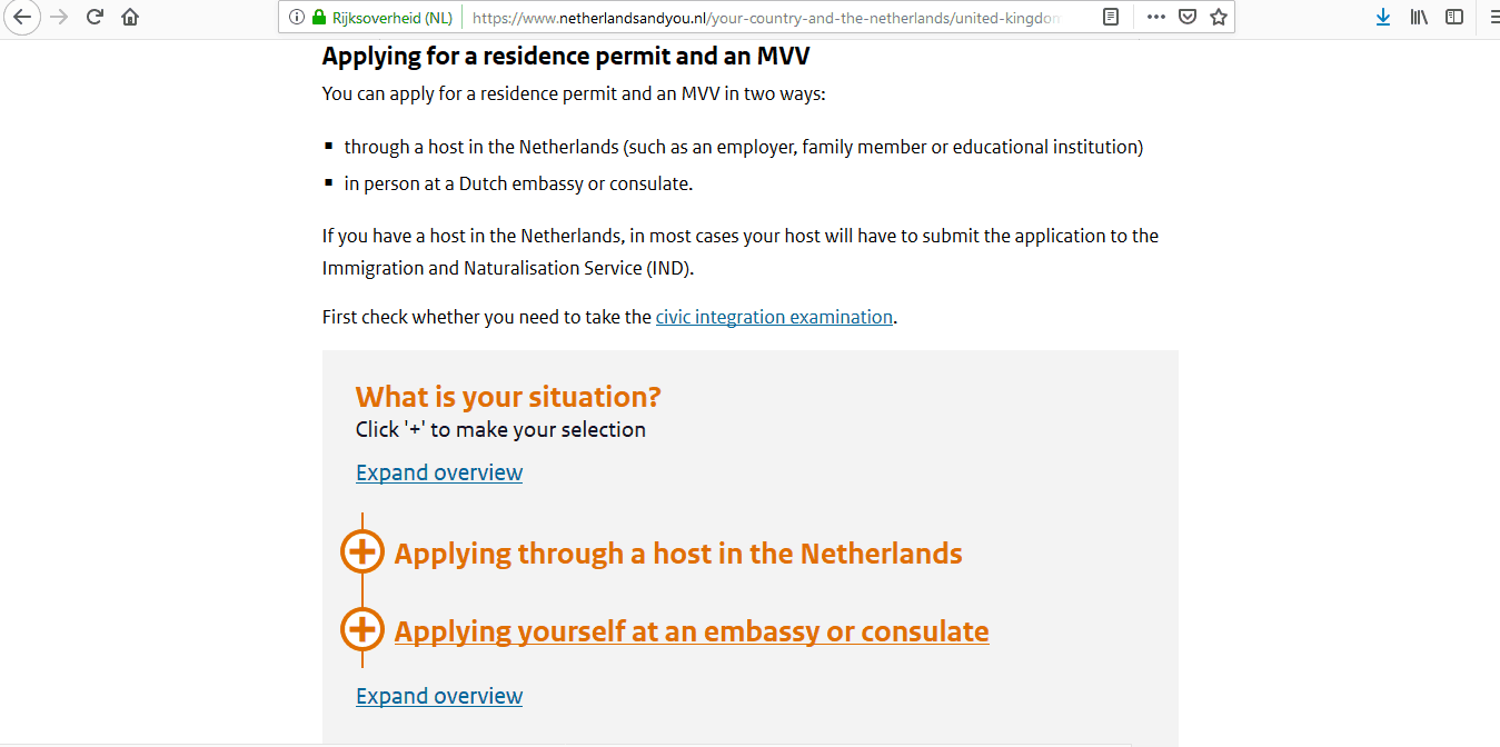Netherlands National Visa from UK Application Form1