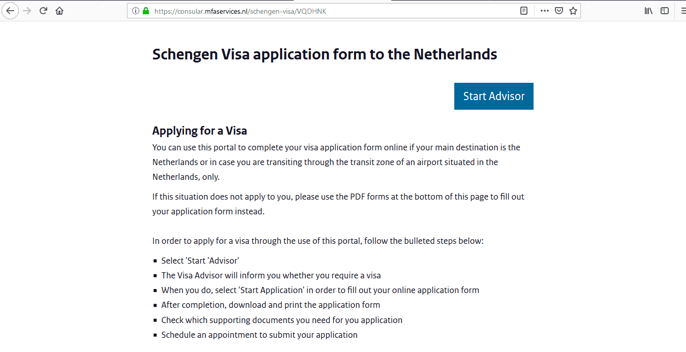 Netherlands Schengen Visa from UK Application Form2