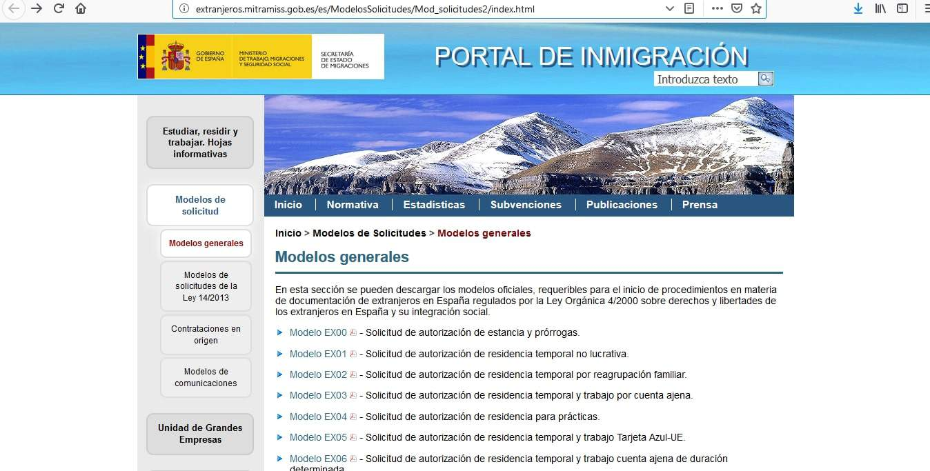 Spain Schengen Visa from UK Application Form3