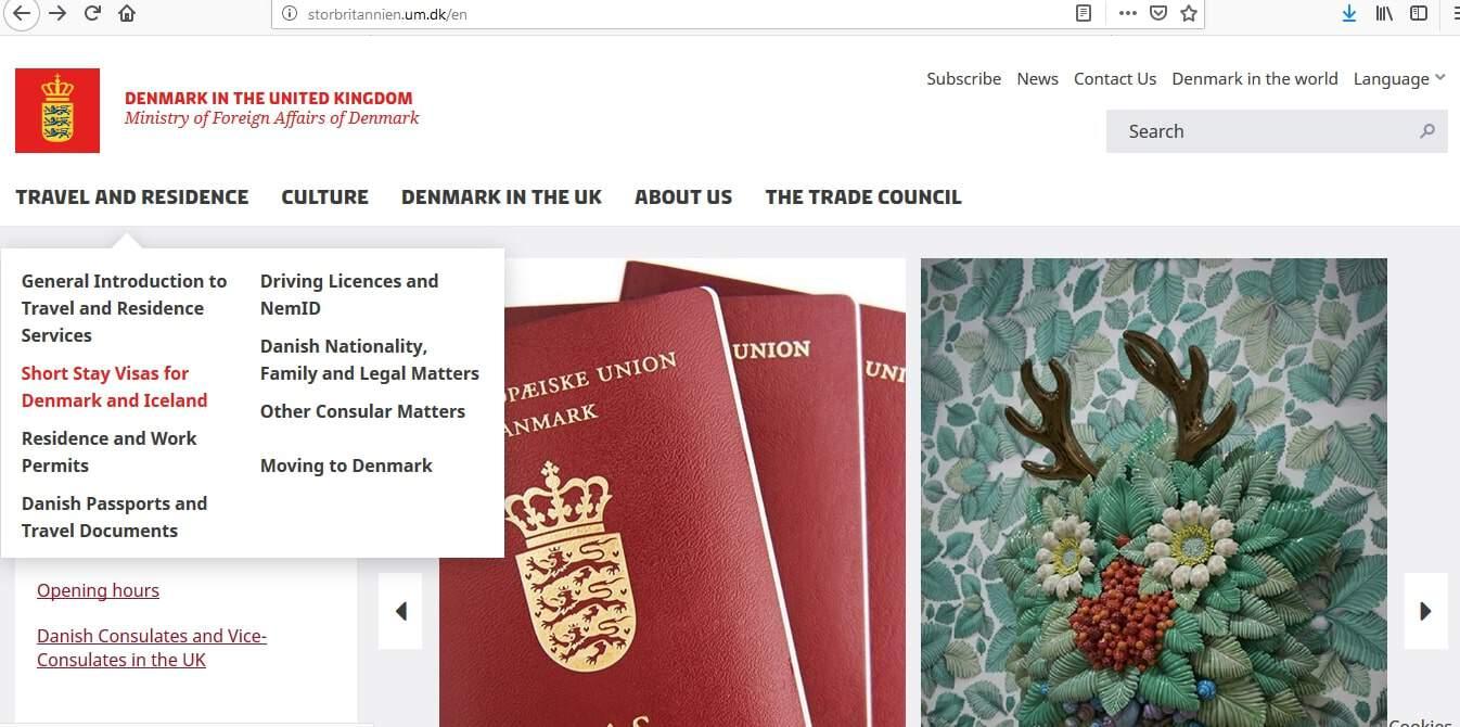 Denmark Schengen Visa from UK Application Form