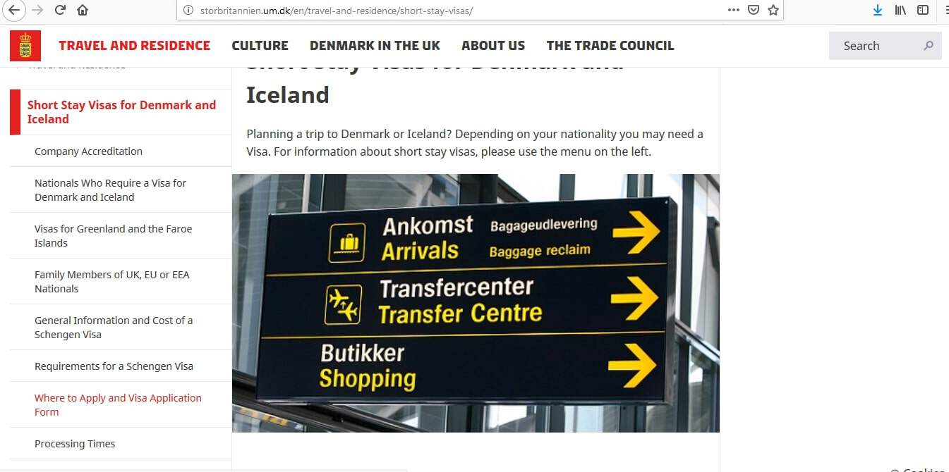 Denmark Schengen Visa from UK Application Form1