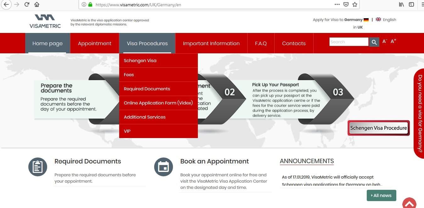 Germany Schengen Visa London Consulate Application Form