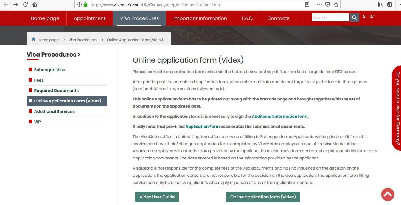 Germany Schengen Visa London Consulate Application Form1