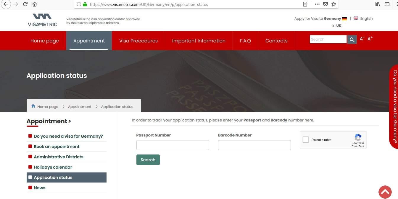 Germany Schengen Visa London Consulate Application Status1
