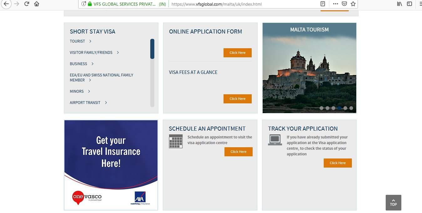 Malta Schengen Visa from UK Application Form