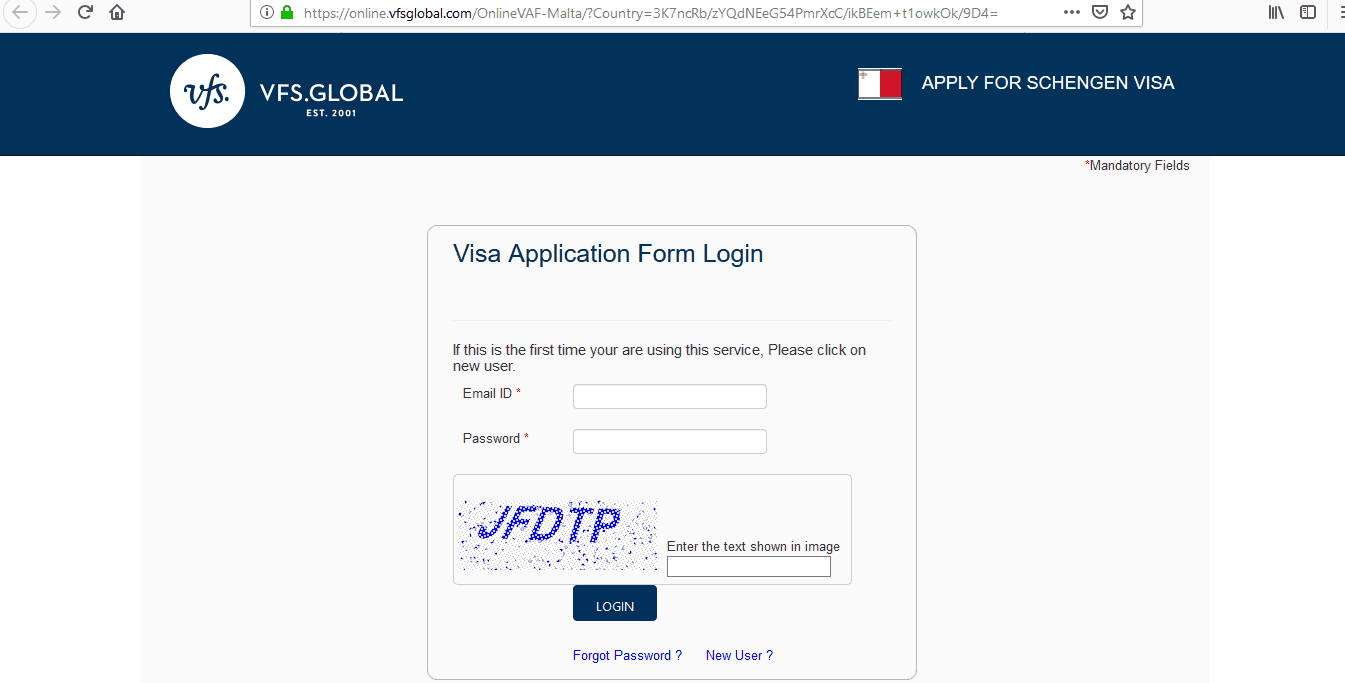 Malta Schengen Visa from UK Application Form1