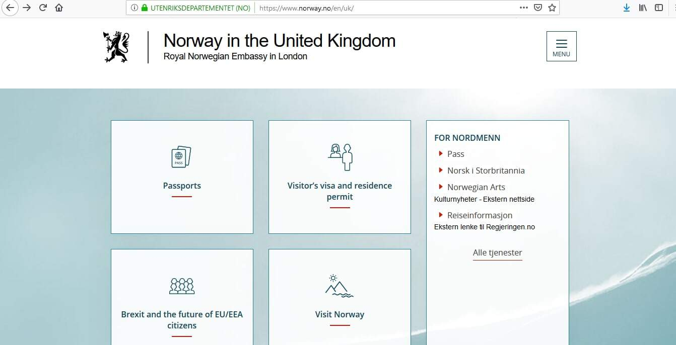 Norway Schengen Visa from UK Application Form