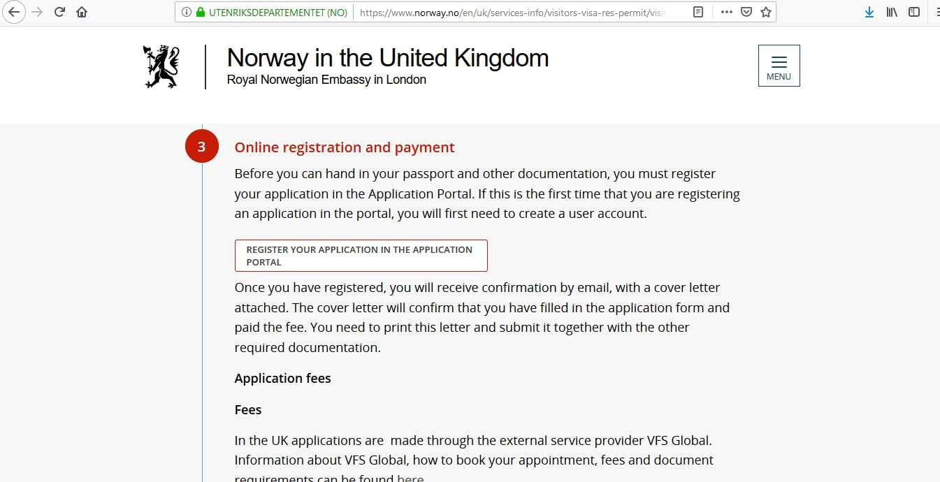 Norway Schengen Visa from UK Application Form2