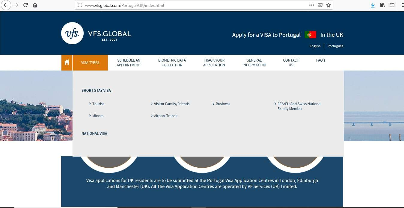 Portugal Schengen Visa from UK Application Form