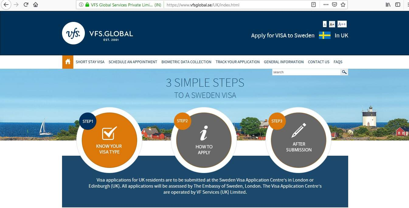 Sweden Schengen Visa from UK Application Form