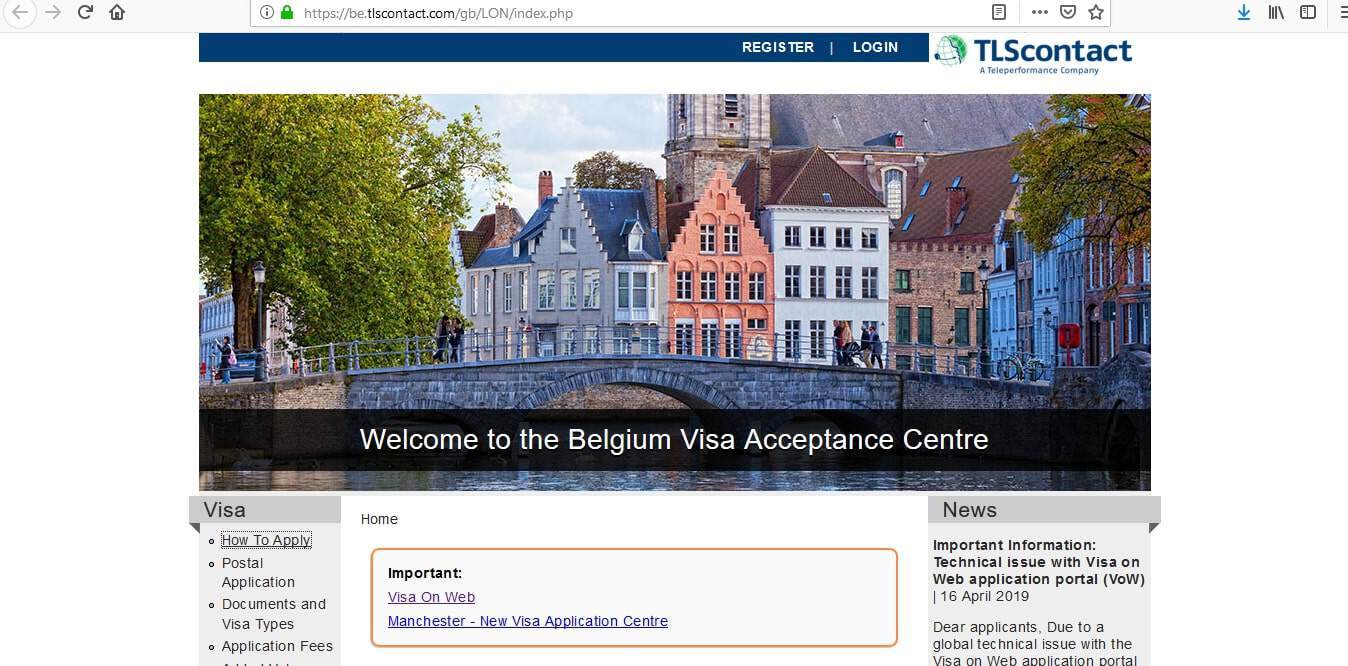 Belgium Schengen Visa London Consulate Application Form