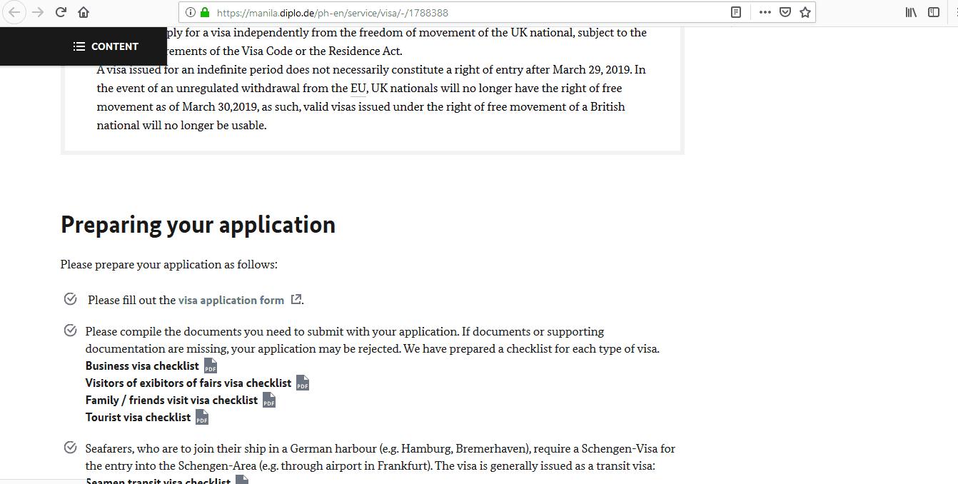 Germany Schengen Visa Manila Consulate Application Form2