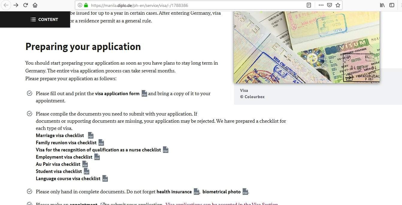 Germany Schengen Visa Manila Consulate Application Form5