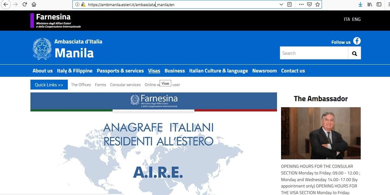 Italy Schengen Visa Manila Consulate Application Form