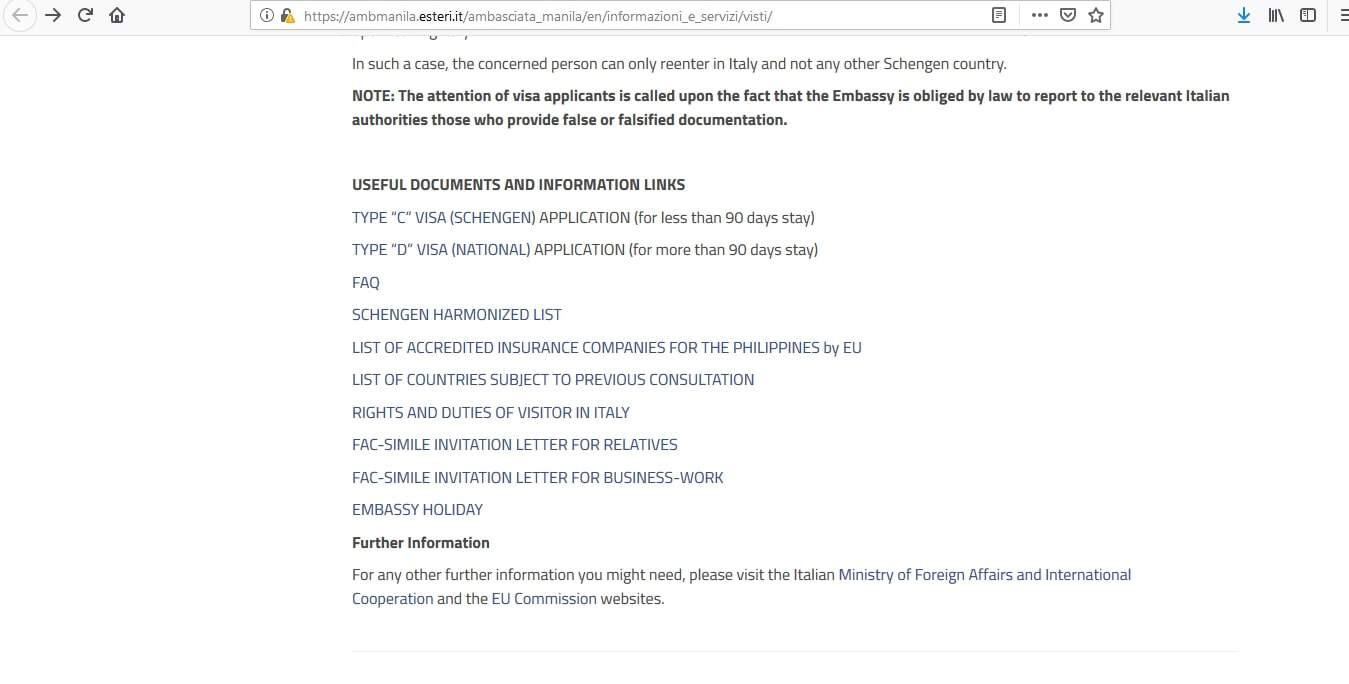 Italy Schengen Visa Manila Consulate Application Form1