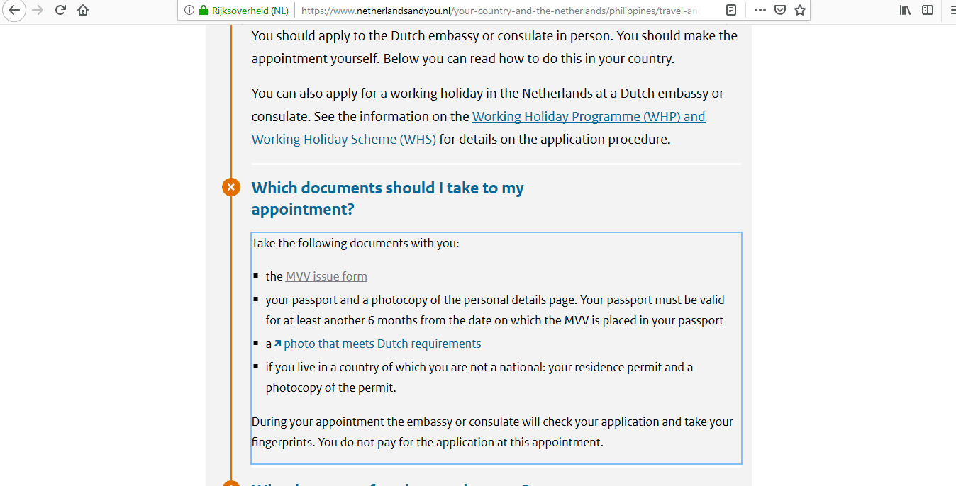 Netherlands Schengen Visa Manila Consulate Application Form9