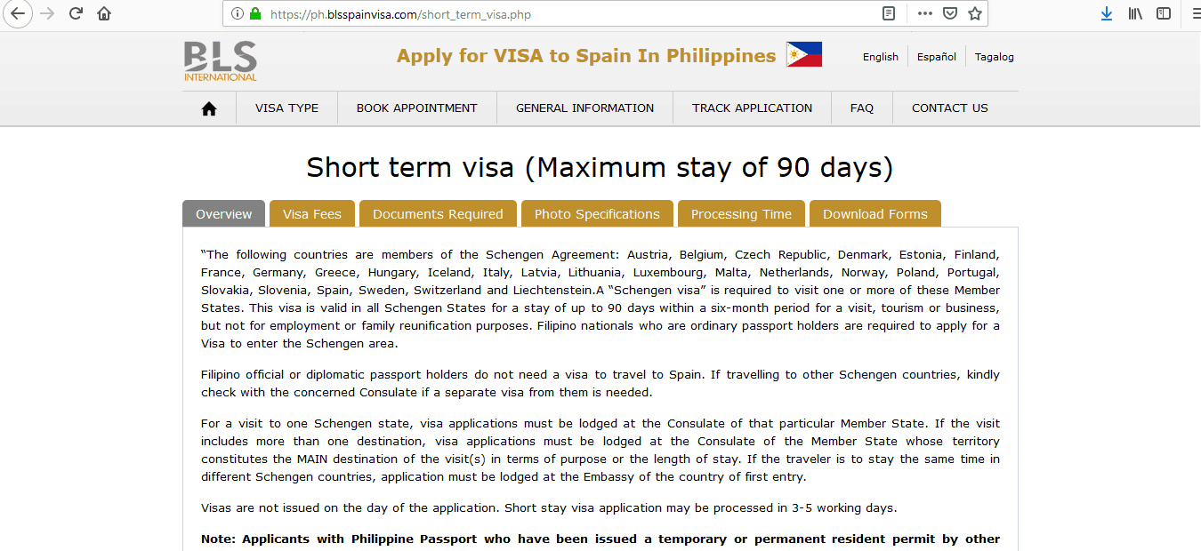 Spain Schengen Visa Manila Consulate Application Form1
