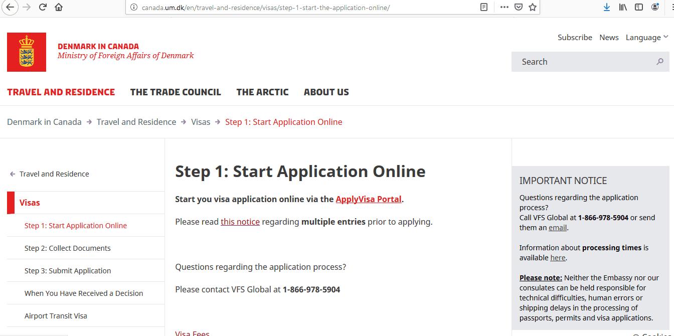 Apply Denmark Schengen Visa at Ottawa Embassy Canada Application Form2