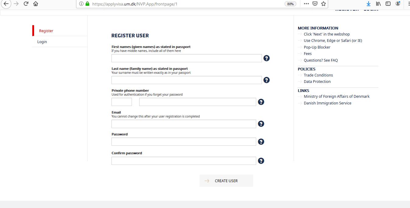 Apply Denmark Schengen Visa at Ottawa Embassy Canada Application Form5