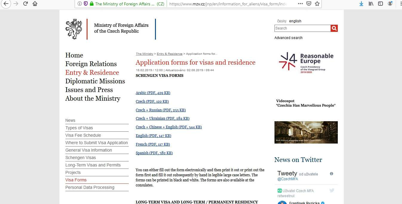 Czech Republic Schengen Visa from Embassy Ottawa Canada Application Form6