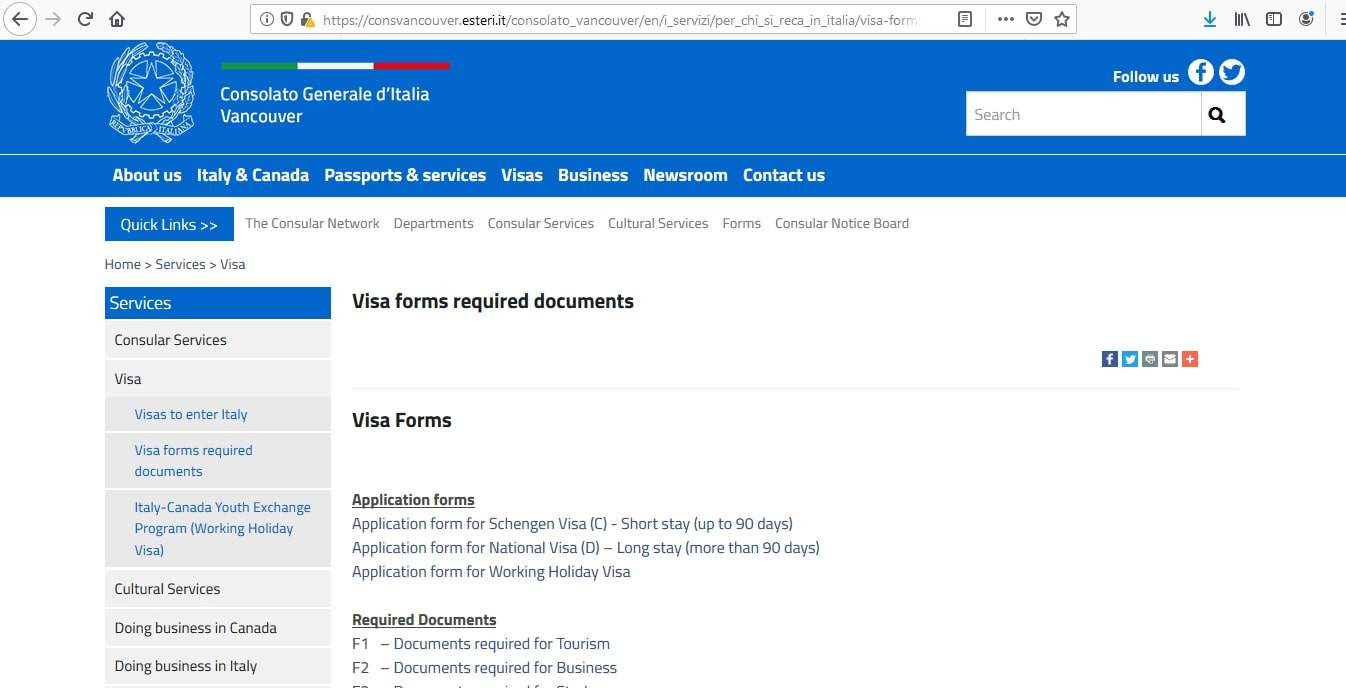 Italy Schengen Visa from Canada Application Form7
