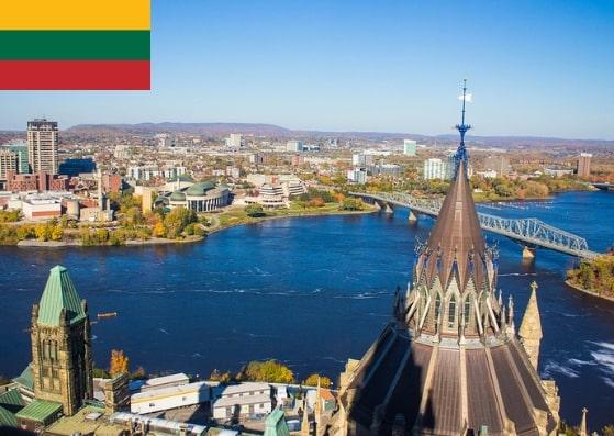 Lithuania Schengen Visa from Ottawa Canada