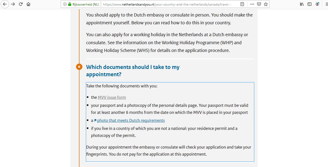 Netherlands Schengen Visa from Canada Application Form6