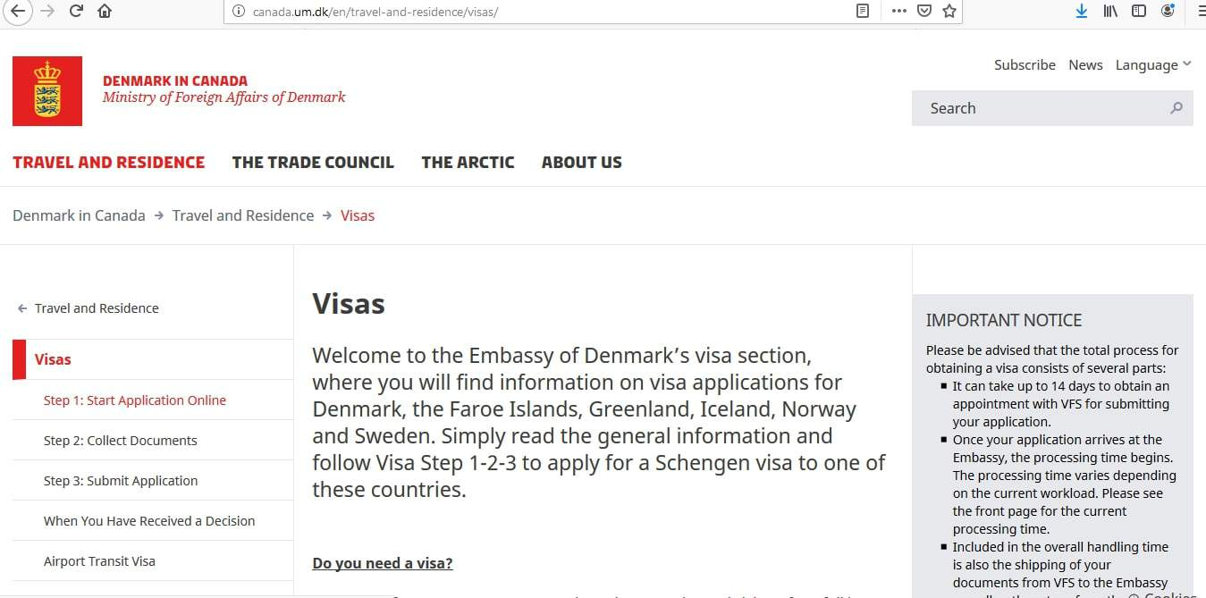 Norway Schengen Visa from Canada Application Form1