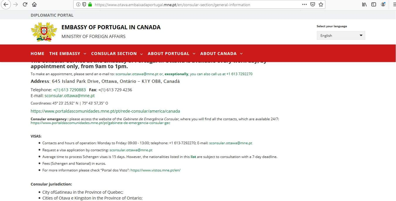 Portugal Schengen Visa from Canada Application Form1