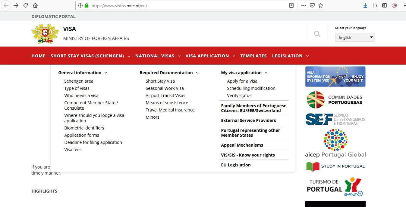 Portugal Schengen Visa from Canada Application Form2