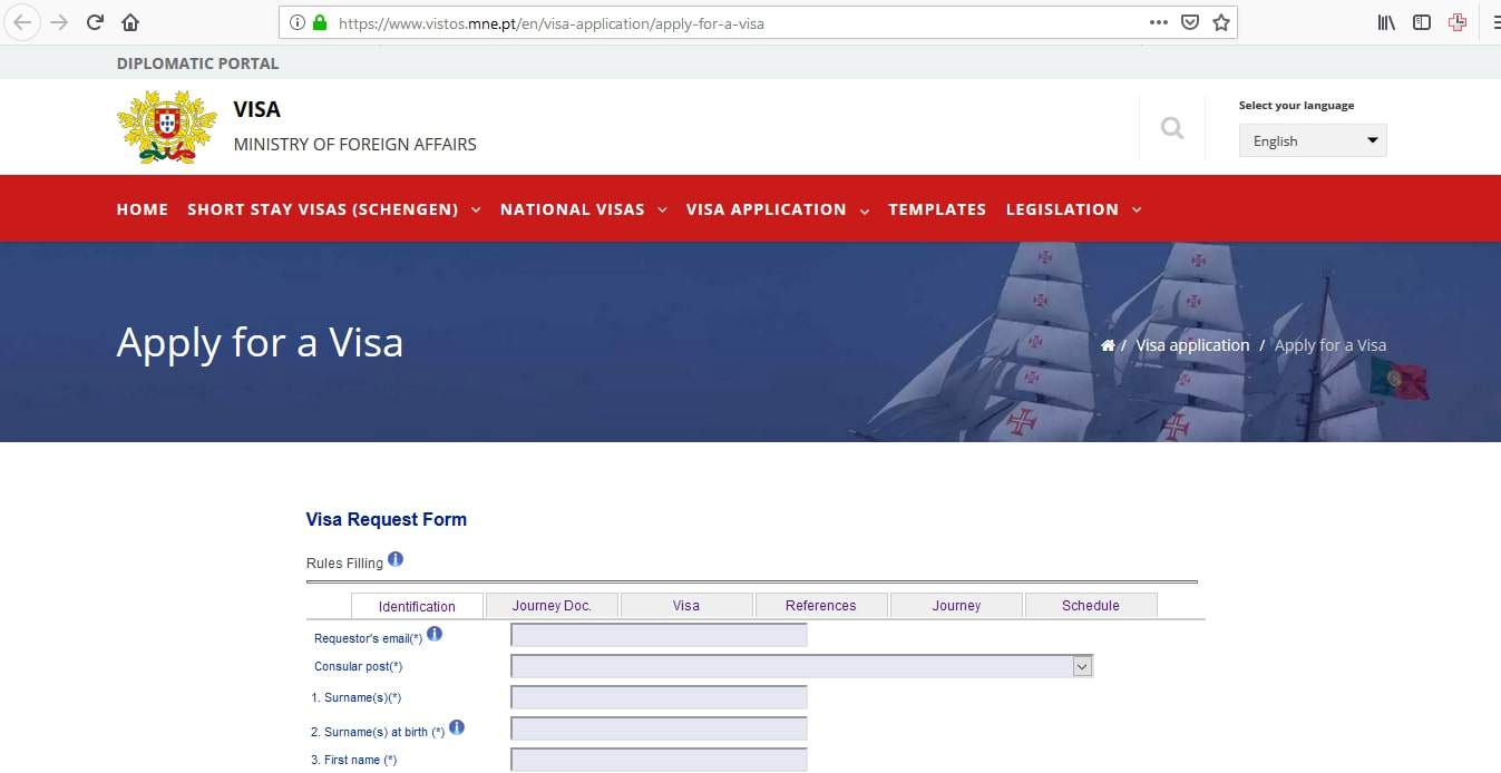 Portugal Schengen Visa from Canada Application Form3