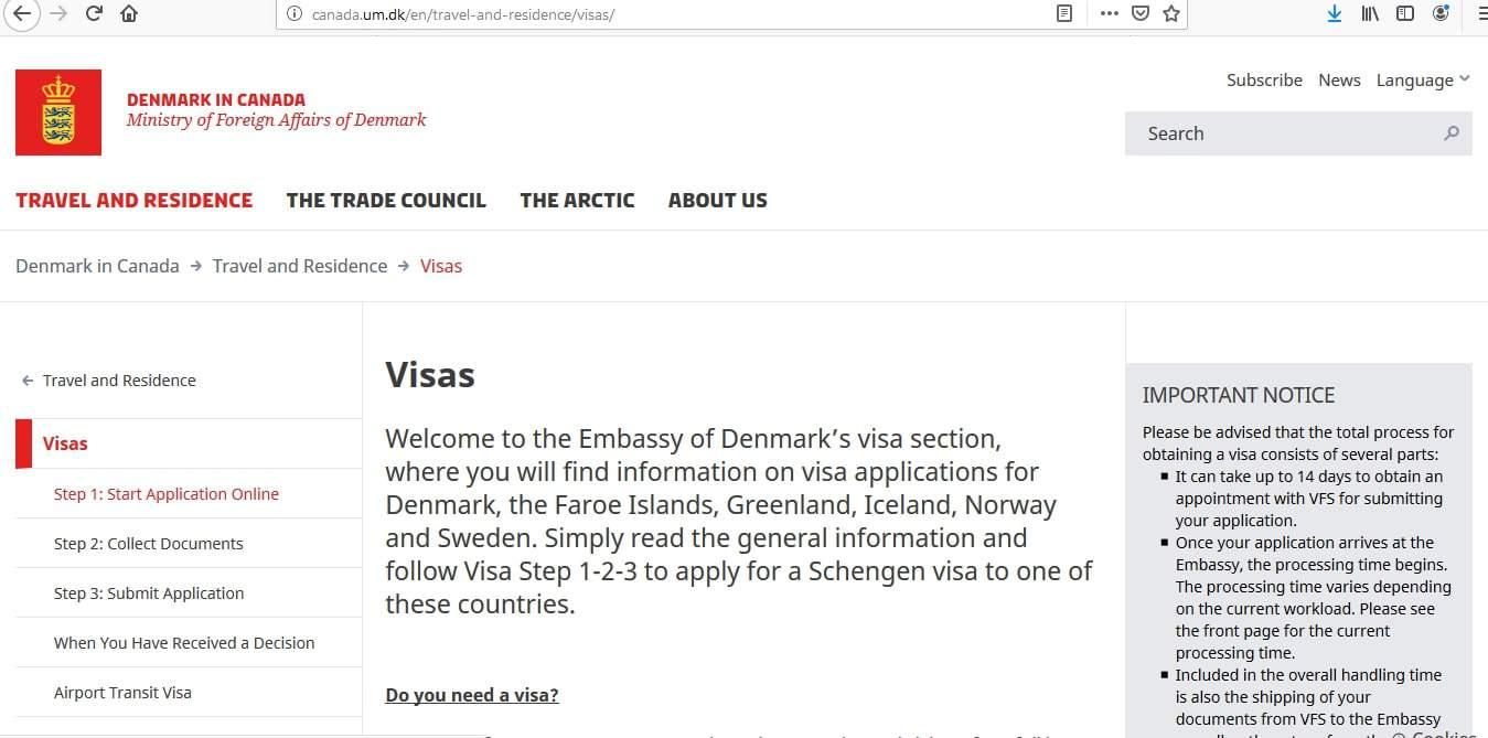 Sweden Schengen Visa from Canada Application Form1