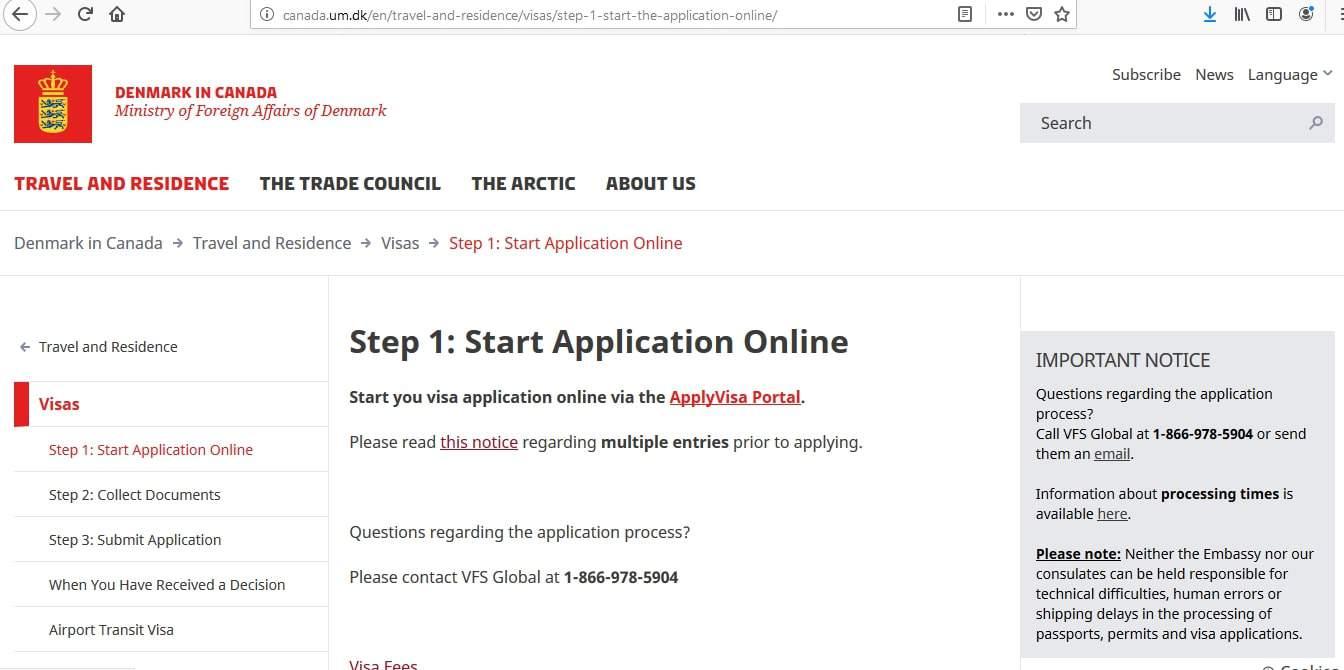 Sweden Schengen Visa from Canada Application Form2