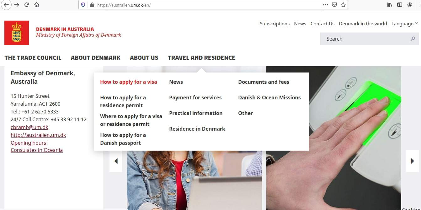 Denmark Schengen Visa from Australia Application Form