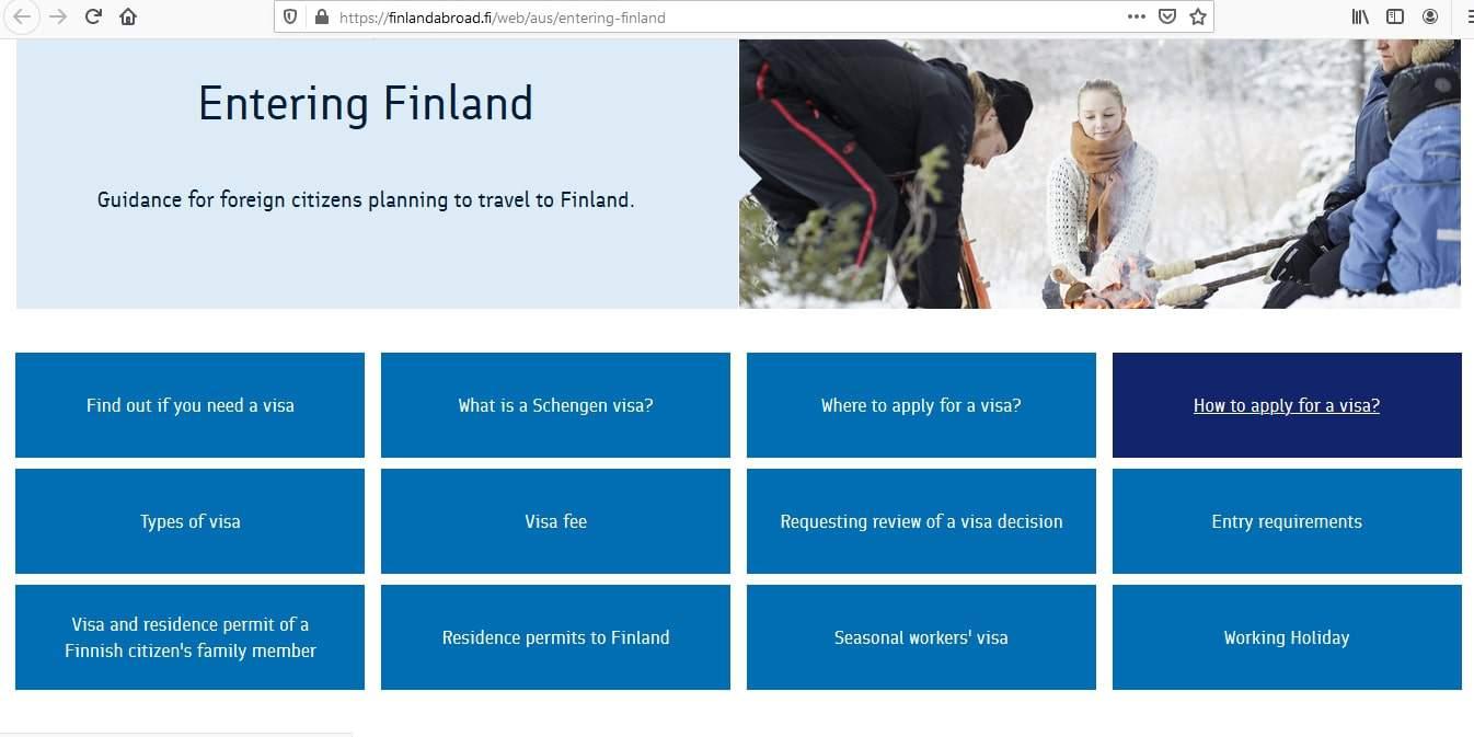 Finland Schengen Visa from Australia Application Form1