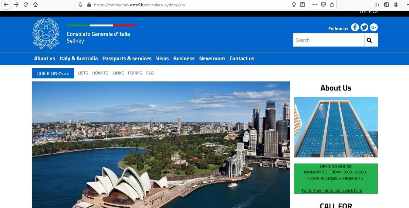 Italy Schengen Visa from Australia Application Form