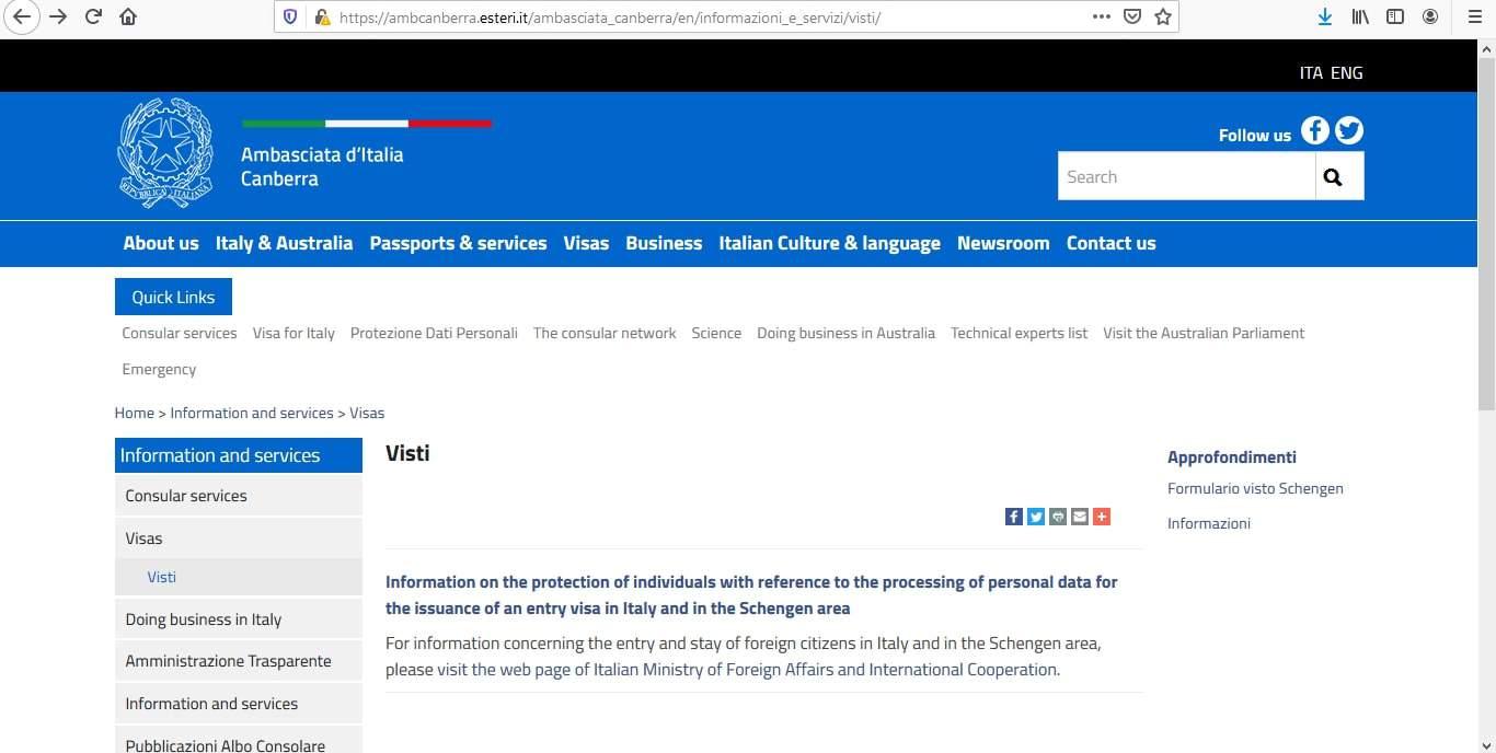 Italy Schengen Visa from Australia Application Form10