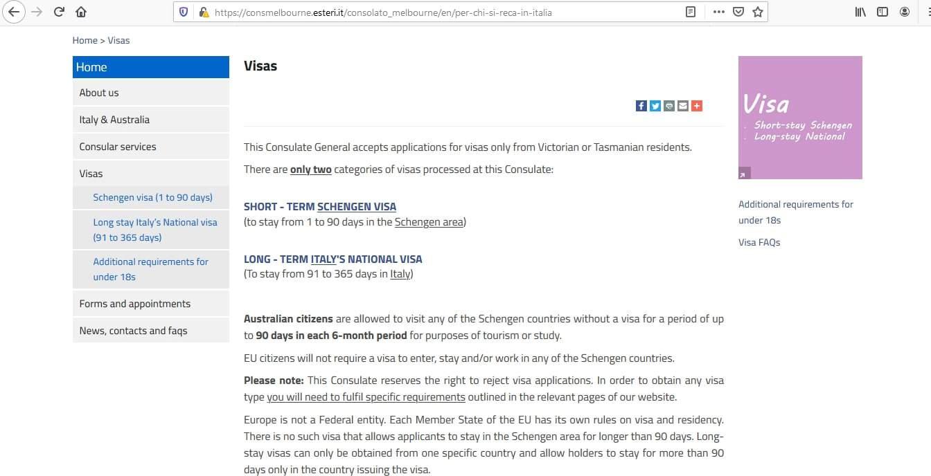 Italy Schengen Visa from Australia Application Form3