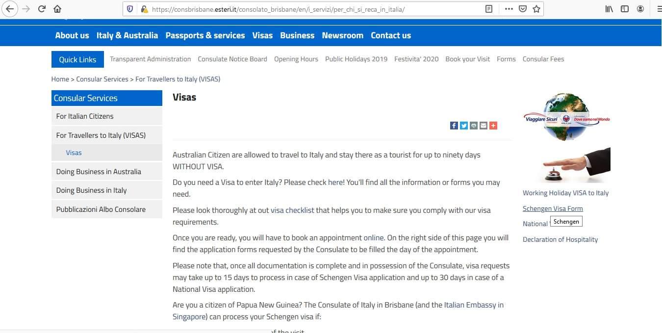 Italy Schengen Visa from Australia Application Form6