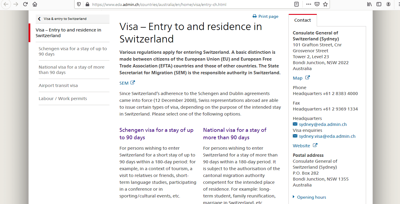 Liechtenstein Schengen Visa from Australia Application Form1