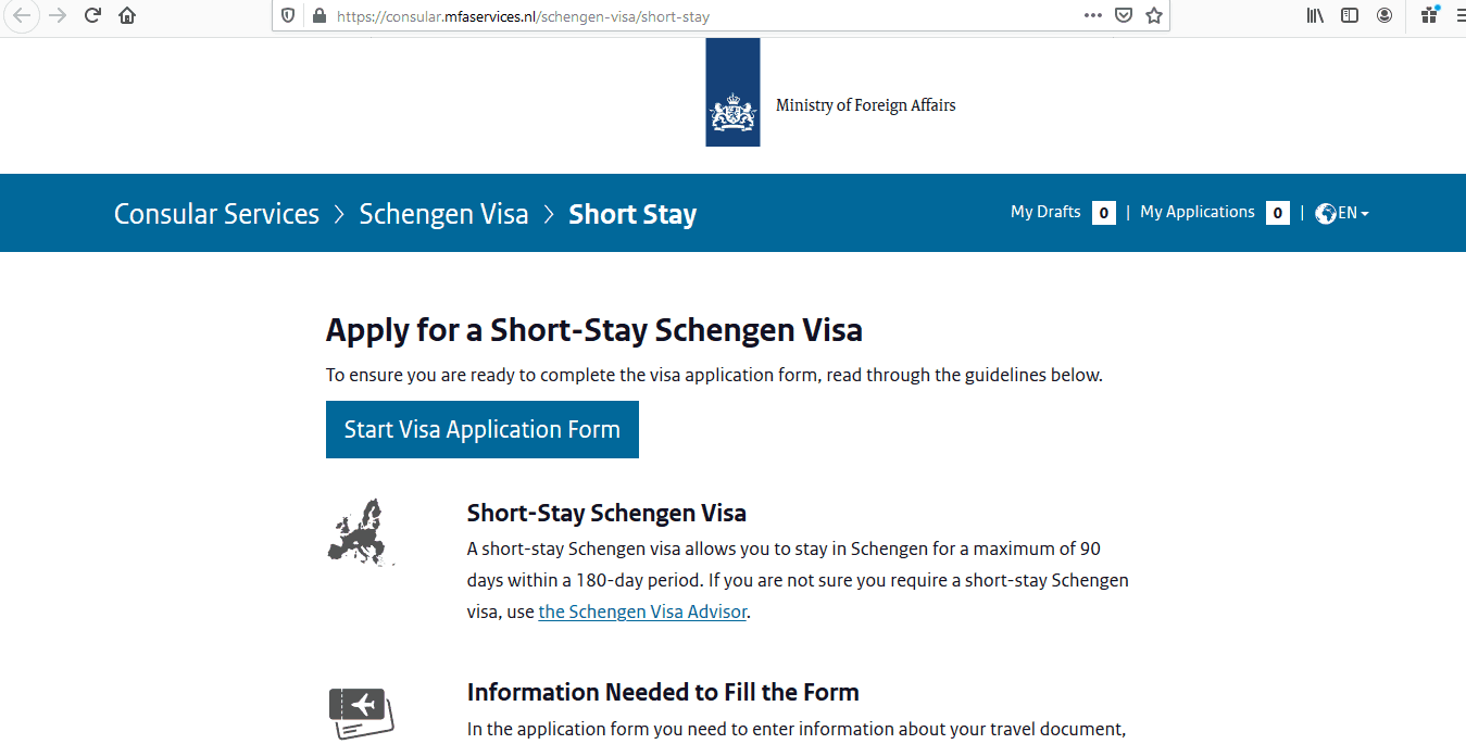 Netherlands Schengen Visa from Australia Application Form2
