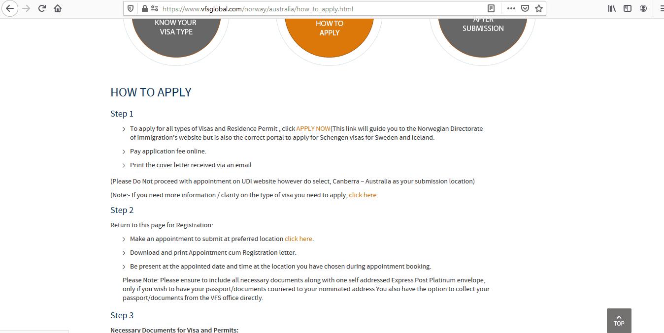 Norway Schengen Visa from Australia Application Form1