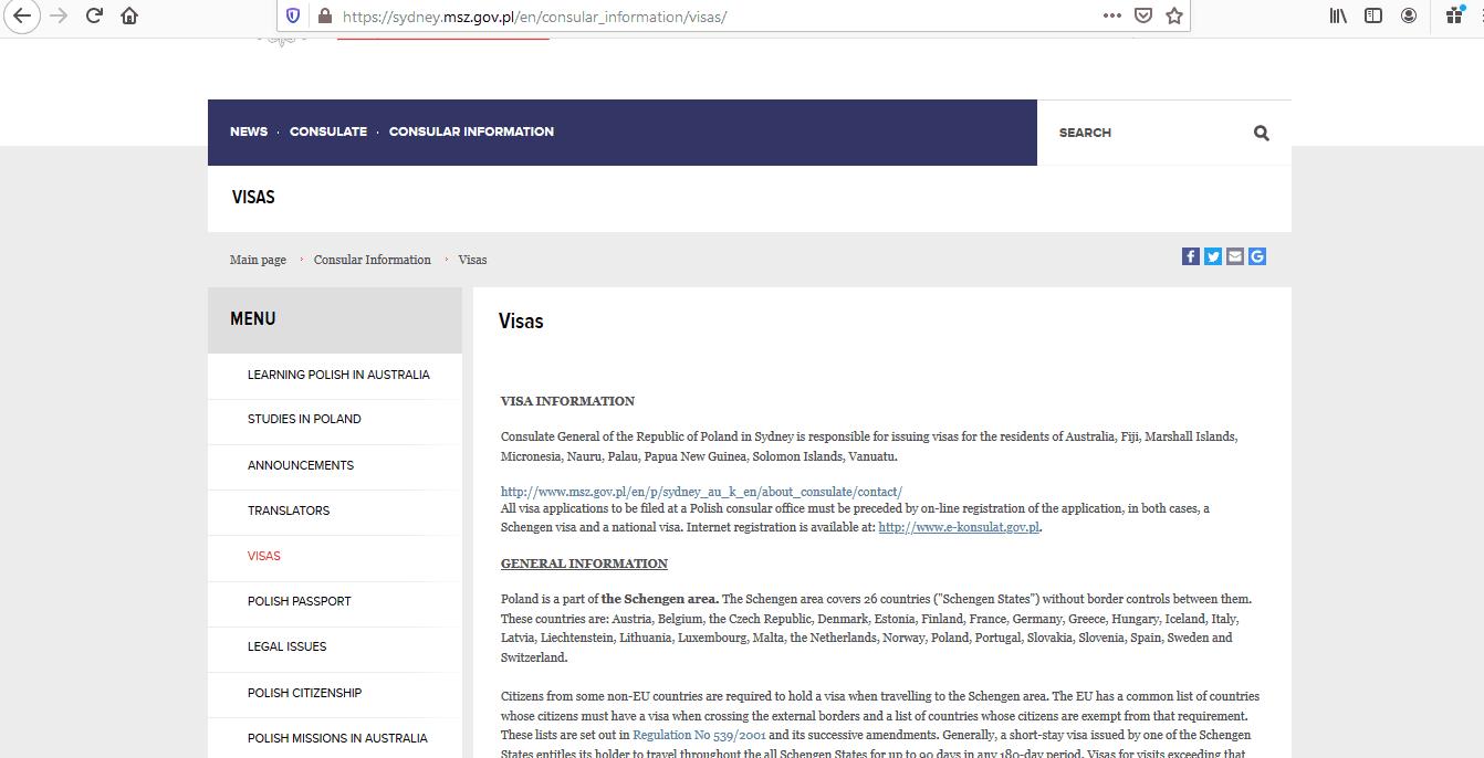 Poland Schengen Visa from Australia Application Form1
