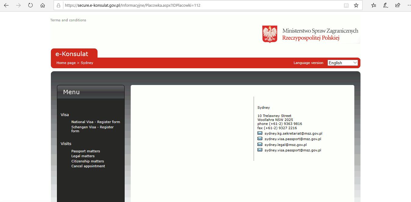 Poland Schengen Visa from Australia Application Form3