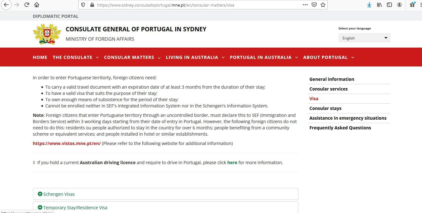 Portugal Schengen Visa from Australia Visa Application Form2