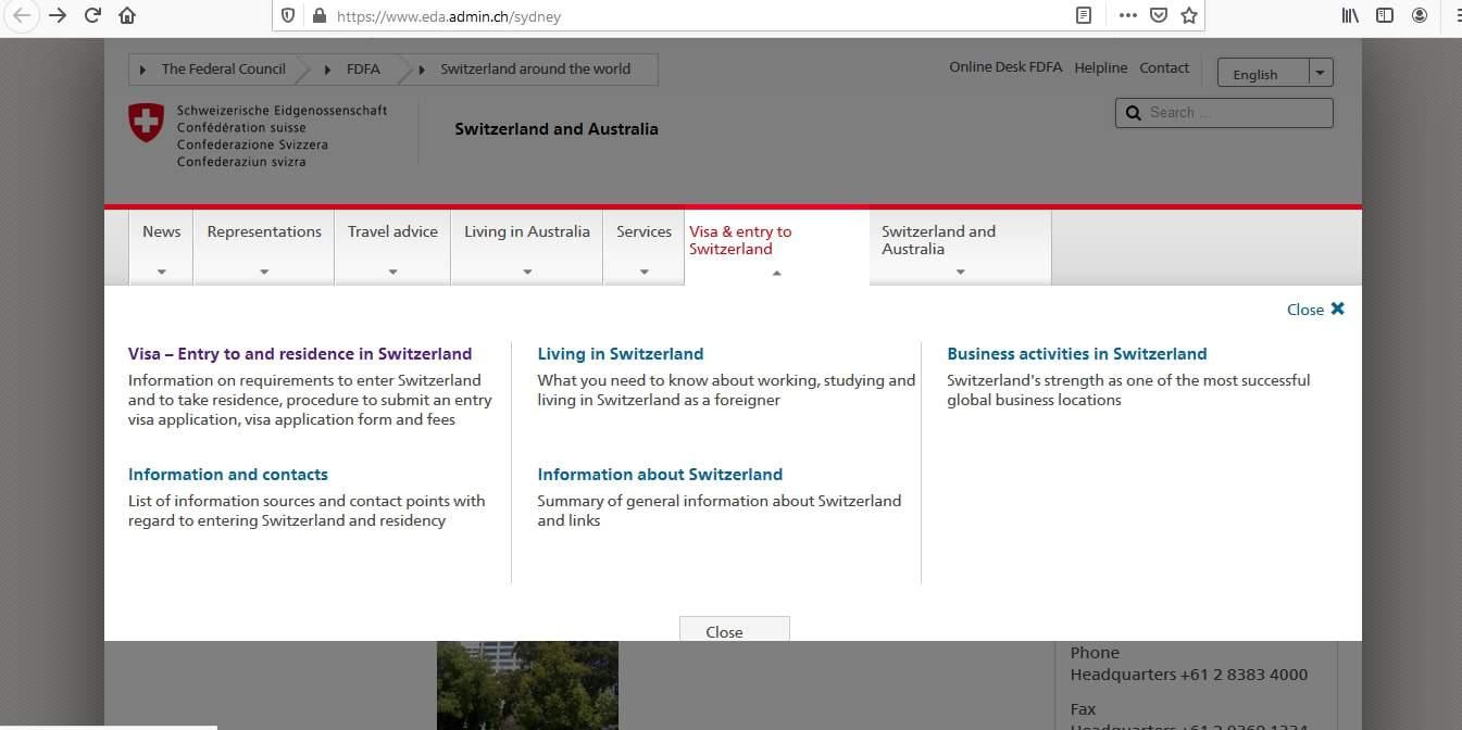 Switzerland Schengen Visa from Australia Application Form