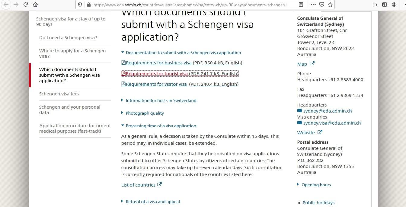 Switzerland Schengen Visa from Australia Application Form3