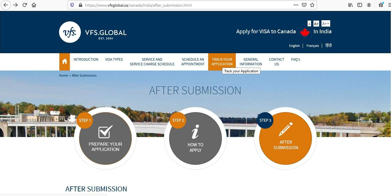 Canada Visa From India Application Tracker - 1