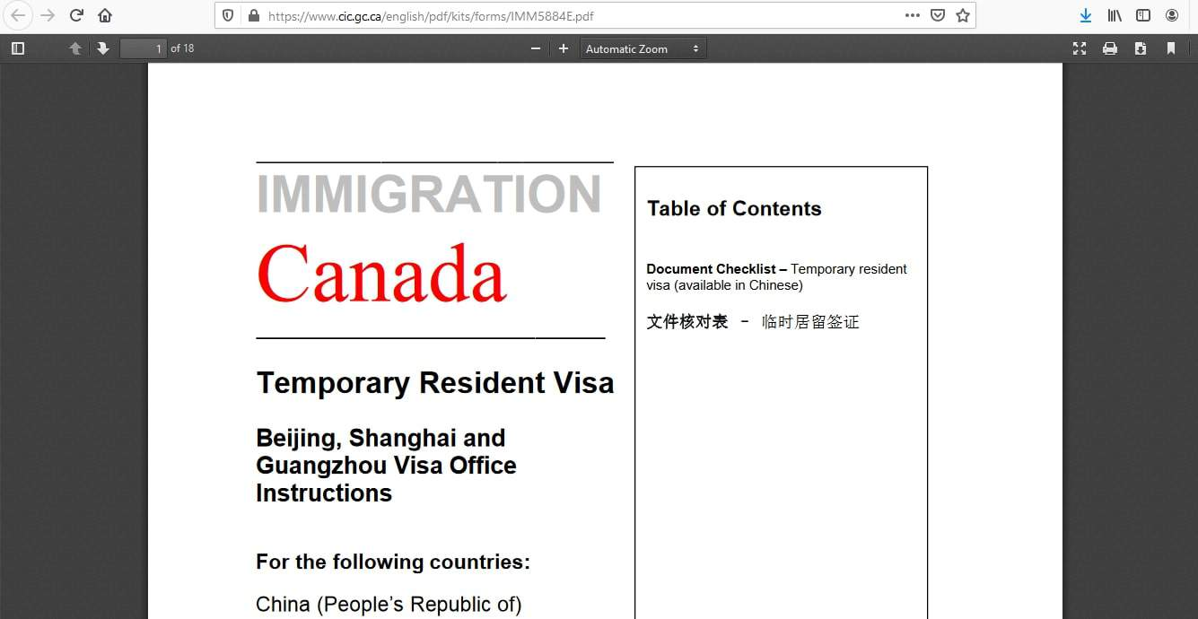 Canada Visa from China Application Documents Checklist - 5
