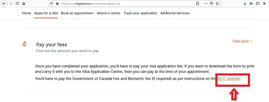 Canada Visa from China Application Fee - 1